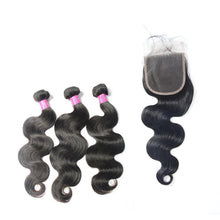 Load image into Gallery viewer, wholesale virgin raw body wave Brazilian hair 3 bundles & closure-Loks - Lokshair