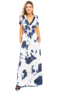 Breathable Summertime Maxi Dress - Navy - Dreaming In Scarlett