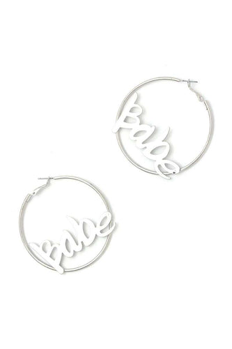 Babe Hoop Earring - Dreaming In Scarlett