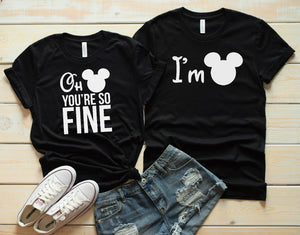 Oh Mickey You're So Fine - His and Hers Tee's - Dreaming In Scarlett