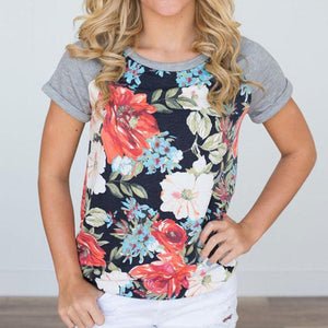Floral Explosion Top - Dreaming In Scarlett