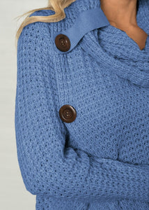 Crossover Knit Sweater - Dreaming In Scarlett