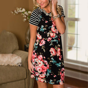 In Perfect Harmony Floral Dress - Dreaming In Scarlett