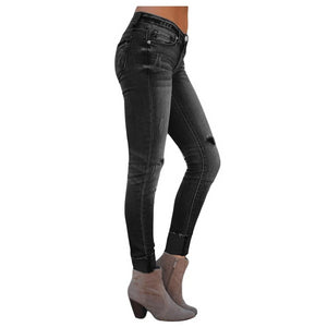 Skinny Stretch Denim - Distressed