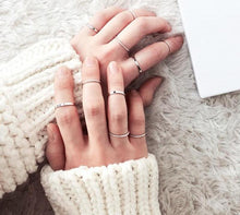 Load image into Gallery viewer, Perfect Midi Ring Set (10pcs) - Dreaming In Scarlett