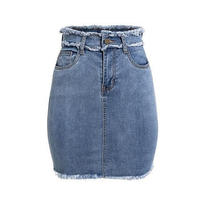 Cutoff Love Denim Skirt - Dreaming In Scarlett