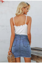 Load image into Gallery viewer, Cutoff Love Denim Skirt - Dreaming In Scarlett
