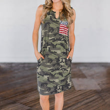 Load image into Gallery viewer, Yankee Doodle Dandy Dress - Dreaming In Scarlett
