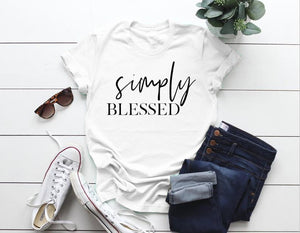 Simply Blessed T-Shirt - Dreaming In Scarlett