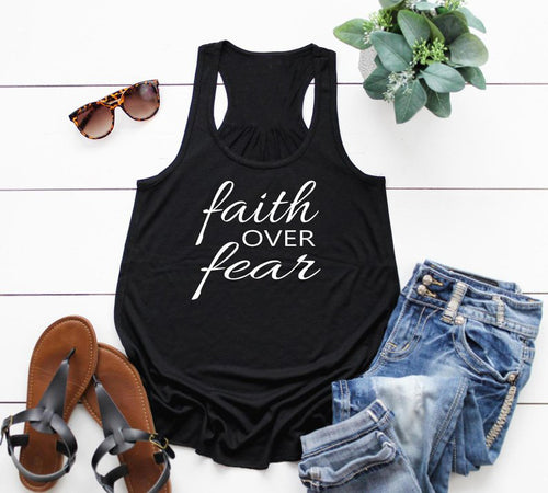 Faith Over Fear Tank Top - Dreaming In Scarlett