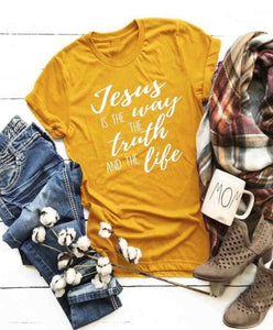 Jesus Is The Way T-Shirt - Dreaming In Scarlett