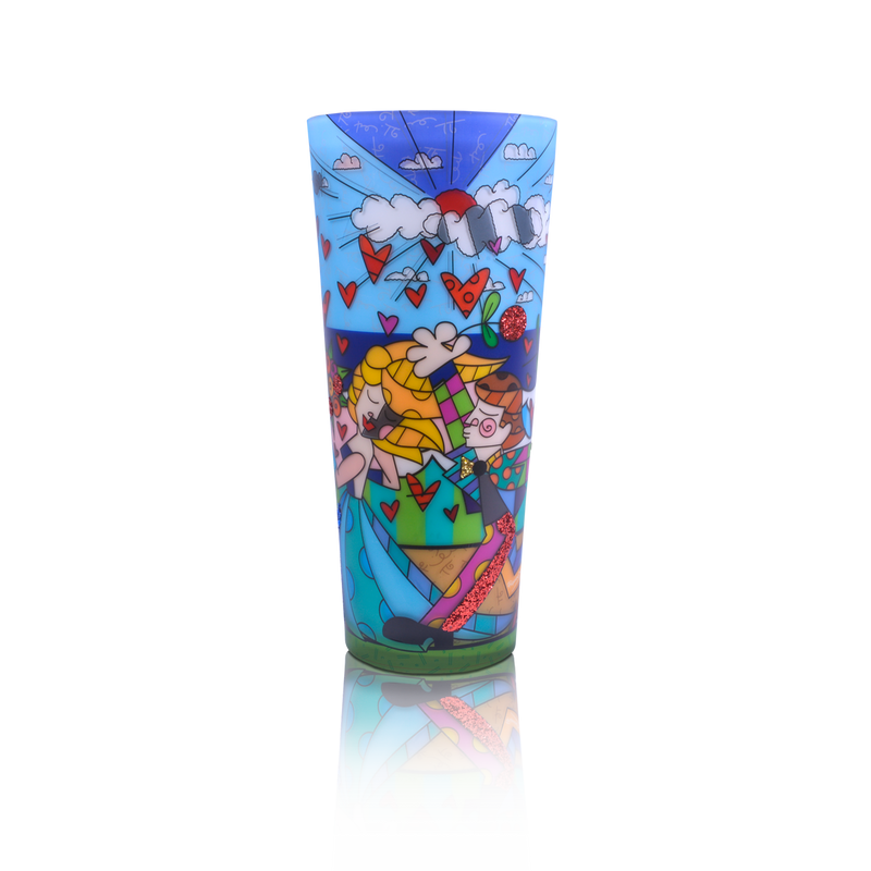 """Follow Me"" Romero Britto® 16"" Candle"
