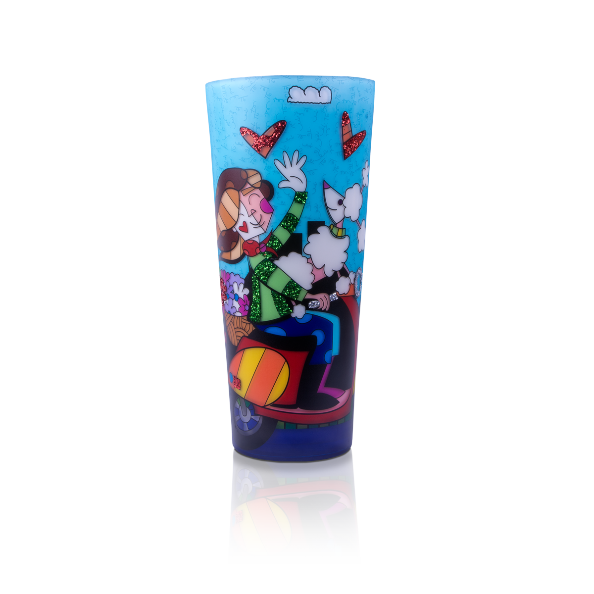 """Love Paris"" Romero Britto® 16"" Candle"