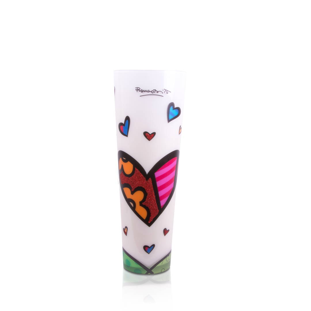 """Hearts"" Romero Britto® 24"" Candle"