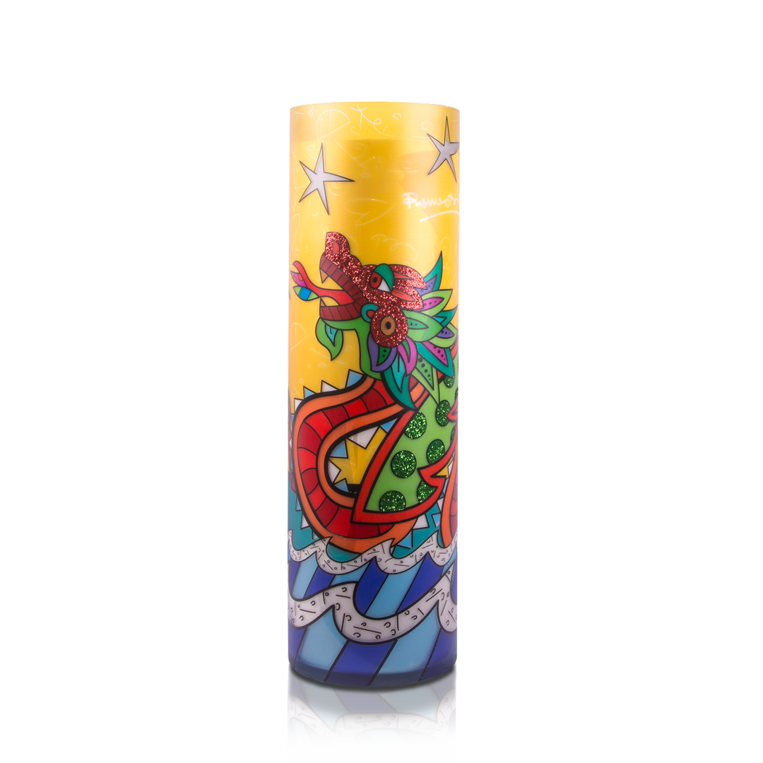"""Good Fortune"" Romero Britto® 33"" Candle"