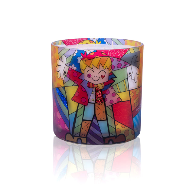 """Big Hug"" Romero Britto® 6"" x 6"" Candle"
