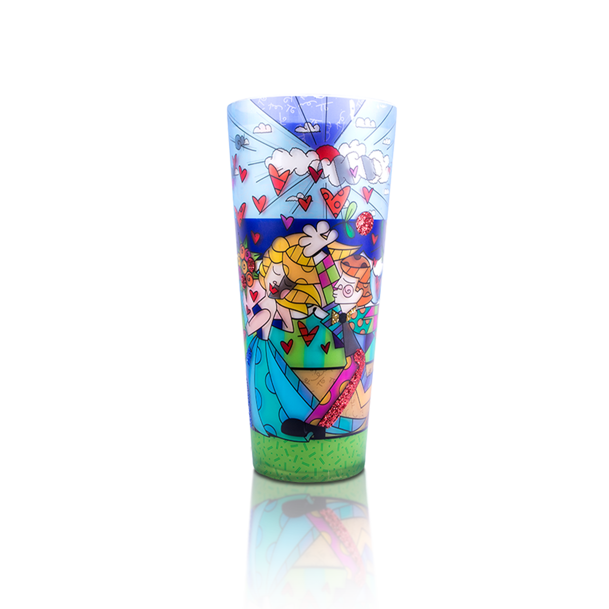 """Follow Me"" Romero Britto® 18"" Candle"