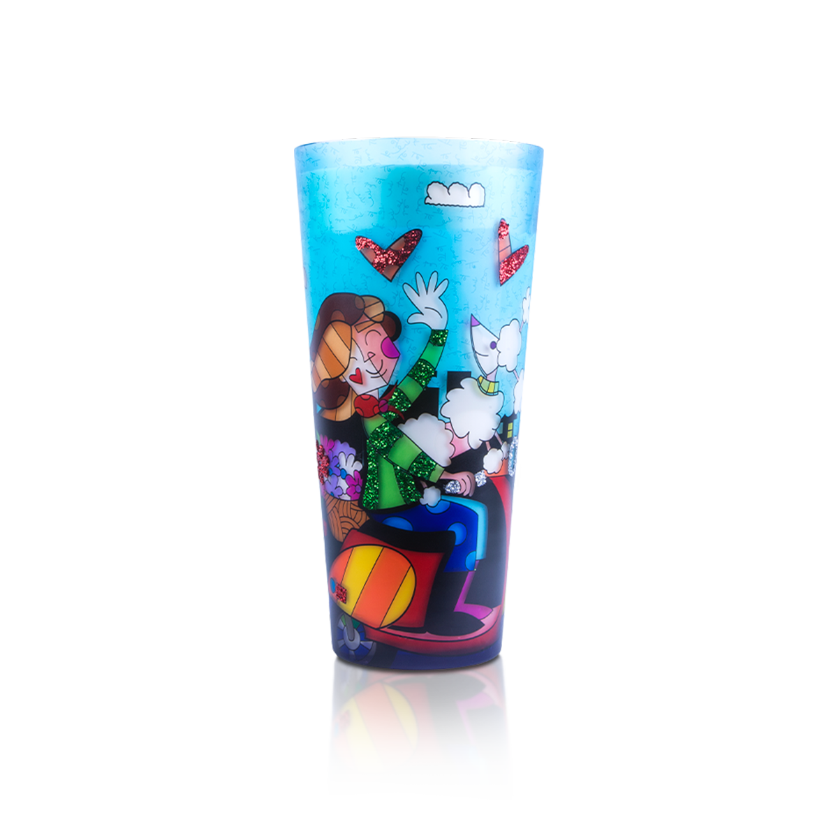 """Love Paris"" Romero Britto® 18"" Candle"