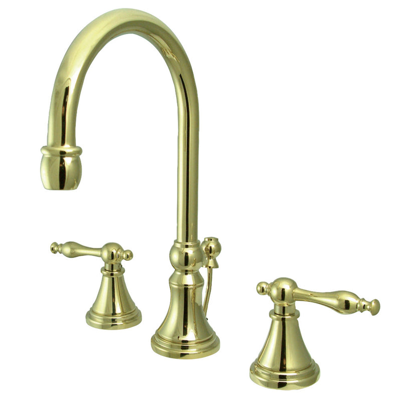 Kingston Brass KS2982NL 8 in. Widespread Bathroom Faucet, Polished Brass