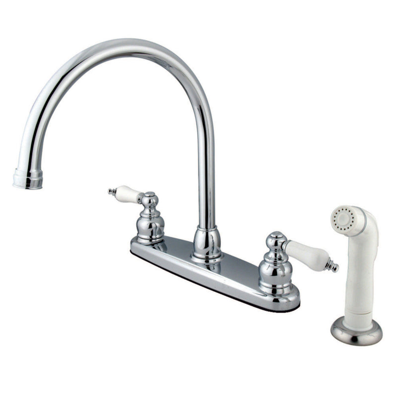 Kingston Brass KB721 Vintage Centerset Kitchen Faucet, Polished Chrome