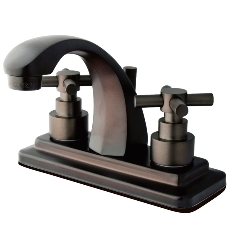 Kingston Brass KS4645EX 4 in. Centerset Bathroom Faucet, Oil Rubbed Bronze