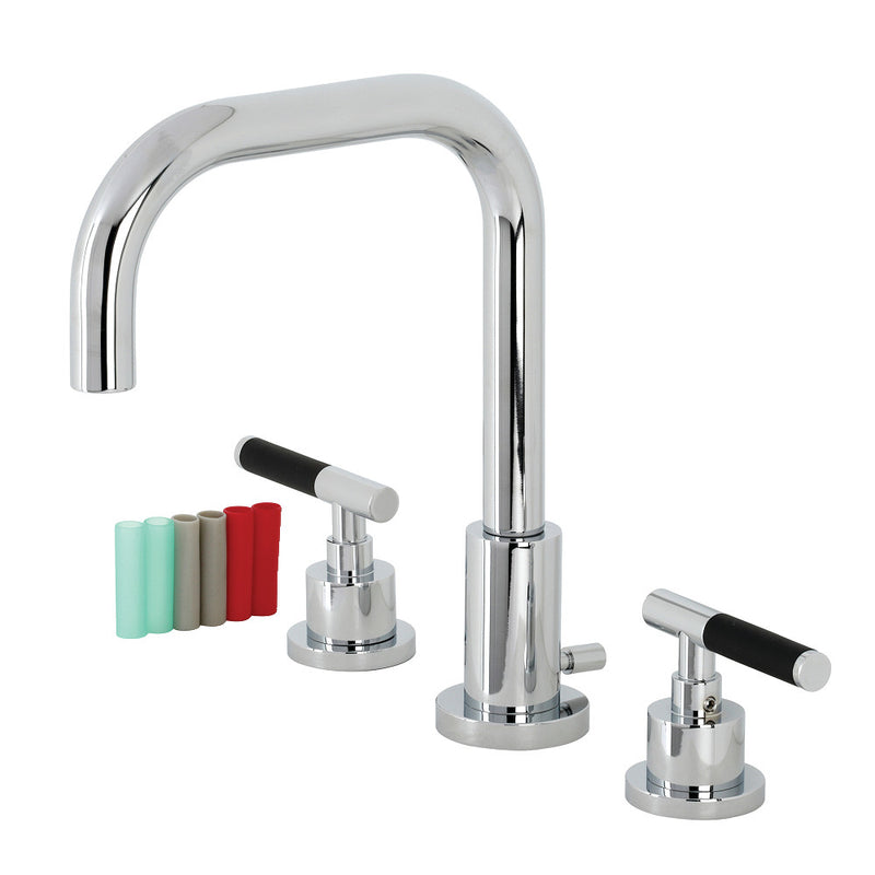 Fauceture FSC8931CKL Kaiser Widespread Bathroom Faucet with Brass Pop-Up, Polished Chrome