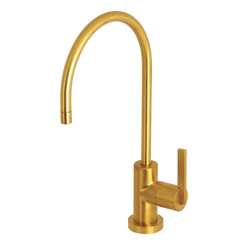 Kingston Brass KS8197CTL 1/4 Turn Water Filtration Faucet, Brushed Brass