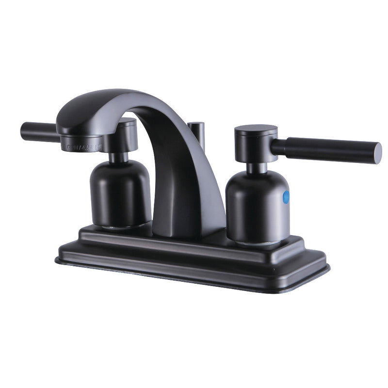 Kingston Brass KB4645DL 4 in. Centerset Bathroom Faucet, Oil Rubbed Bronze