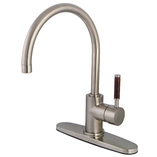 Gourmetier GS8718DWLLS Wilshire Single-Handle Kitchen Faucet, Brushed Nickel