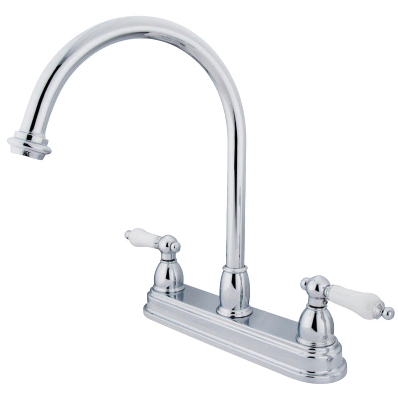 Kingston Brass KB3741PL Restoration Centerset Kitchen Faucet, Polished Chrome