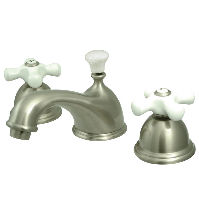 Kingston Brass CC39L8 8 to 16 in. Widespread Bathroom Faucet, Brushed Nickel