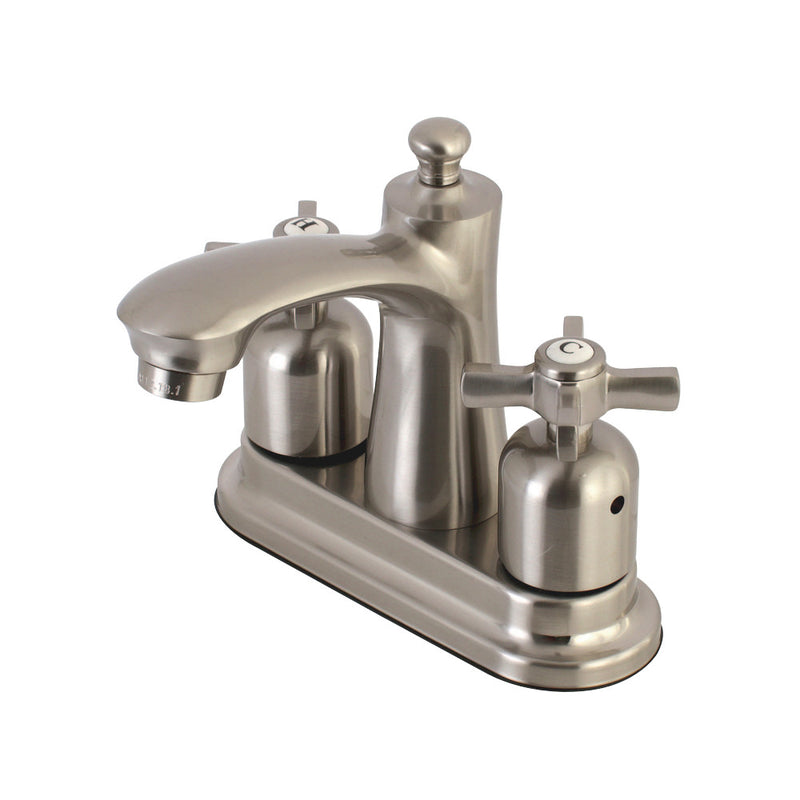 Kingston Brass FB7628ZX 4 in. Centerset Bathroom Faucet, Brushed Nickel