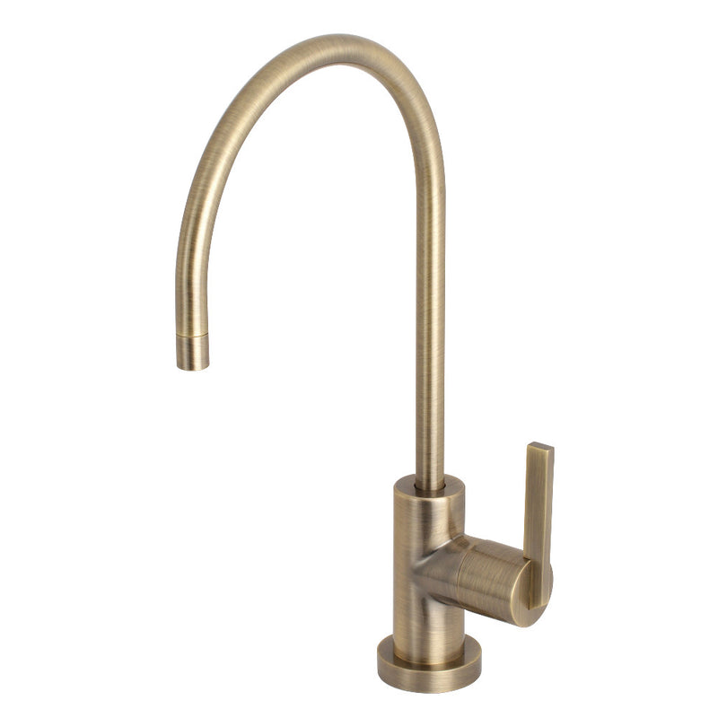 Kingston Brass KS8193CTL 1/4 Turn Water Filtration Faucet, Antique Brass