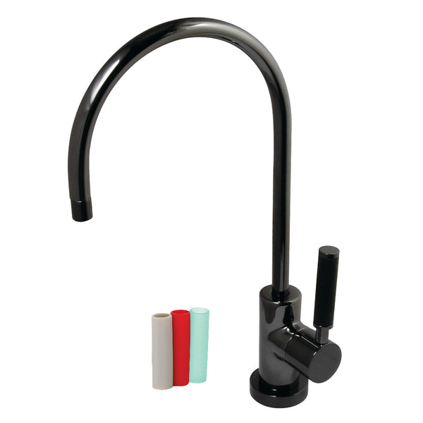 Kingston Brass NS8190DKL Water Onyx Contemporary Water Filtration Faucet, Black Stainless Steel
