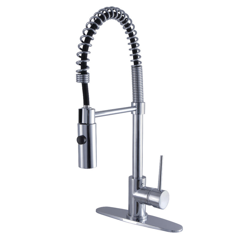 Gourmetier LS8771NYL New York Single-Handle Pre-Rinse Kitchen Faucet, Polished Chrome