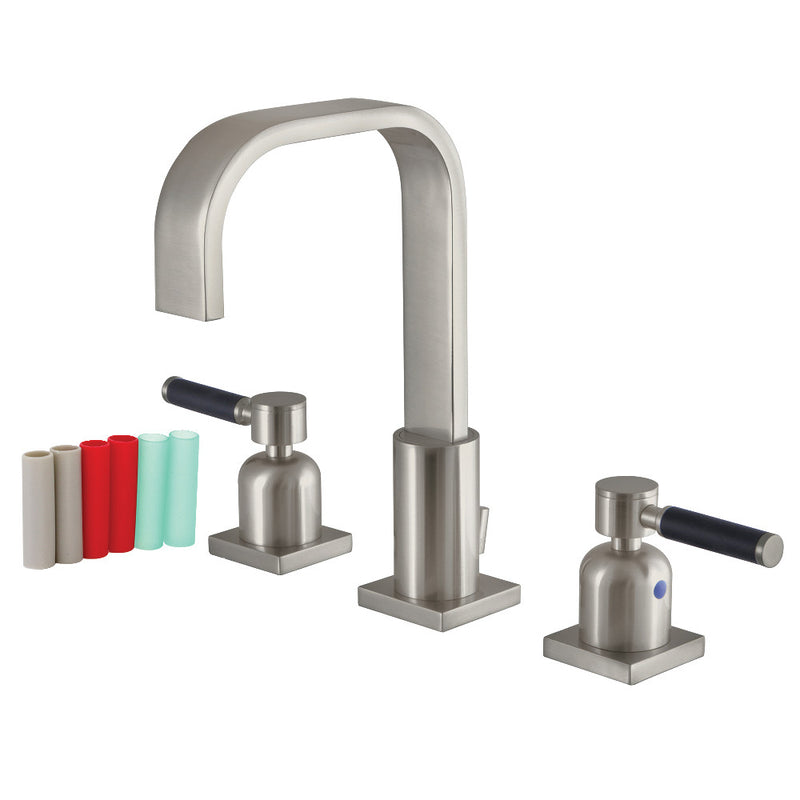 Fauceture FSC8968DKL 8 in. Widespread Bathroom Faucet, Brushed Nickel