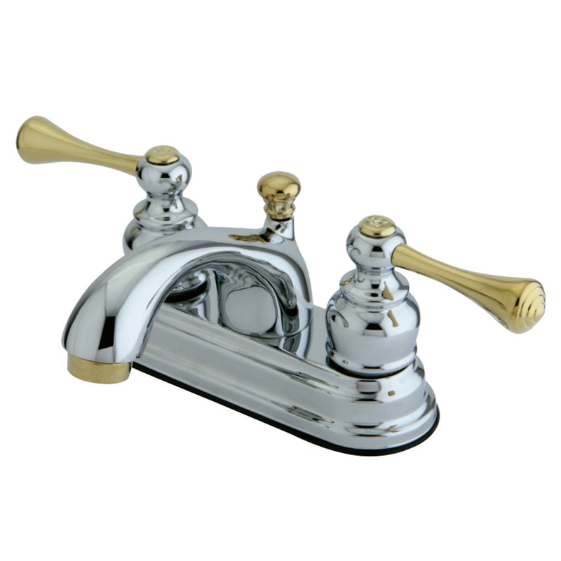 Kingston Brass KB3604BL 4 in. Centerset Bathroom Faucet, Polished Chrome