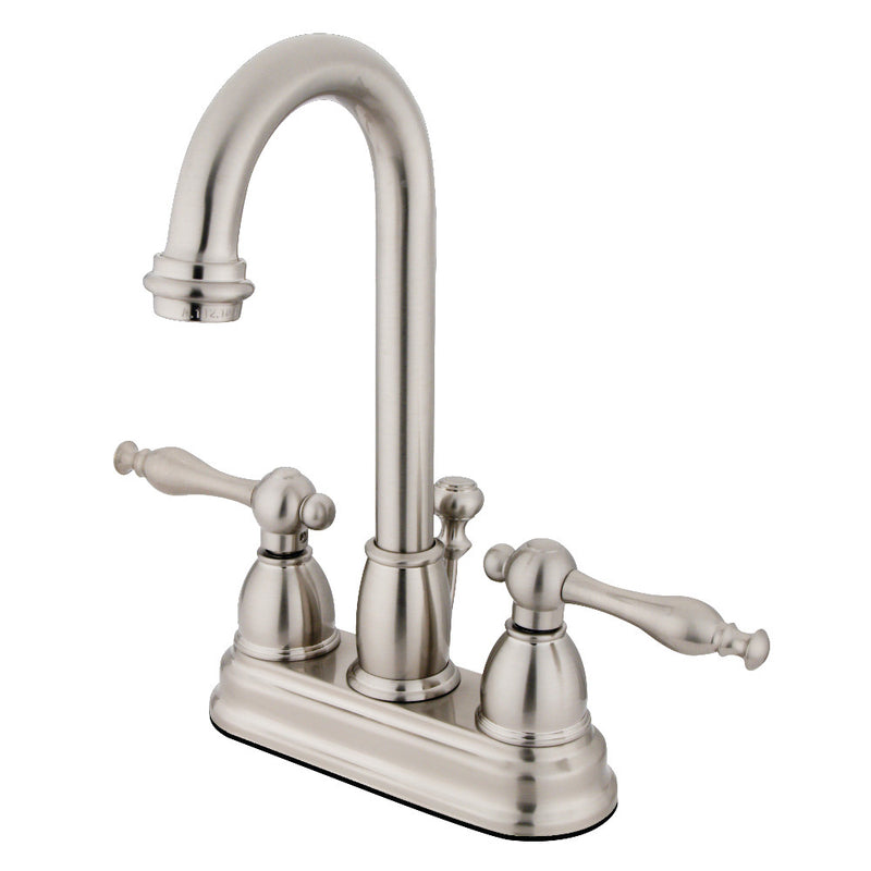 Kingston Brass KB3618NL 4 in. Centerset Bathroom Faucet, Brushed Nickel
