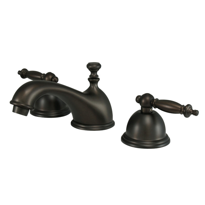 Kingston Brass KS3965TL 8 in. Widespread Bathroom Faucet, Oil Rubbed Bronze