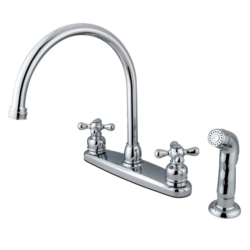 Kingston Brass KB721AXSP Vintage 8-Inch Centerset Kitchen Faucet, Polished Chrome