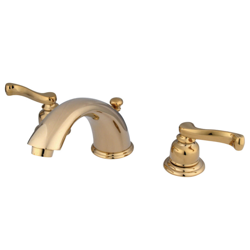Kingston Brass KB8962FL 8 in. Widespread Bathroom Faucet, Polished Brass