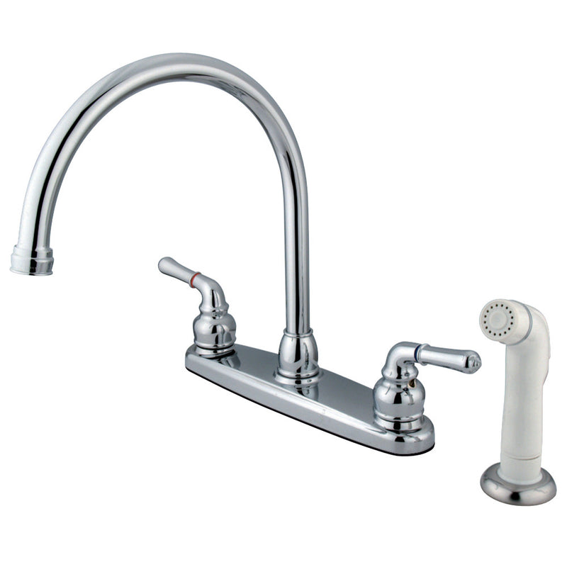 Kingston Brass KB791 Magellan 8-Inch Centerset Kitchen Faucet, Polished Chrome
