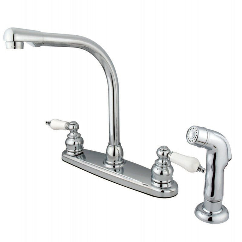Kingston Brass GKB711SP Victorian Centerset Kitchen Faucet, Polished Chrome