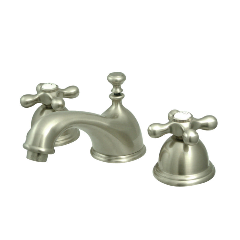 Kingston Brass KS3968AX 8 in. Widespread Bathroom Faucet, Brushed Nickel