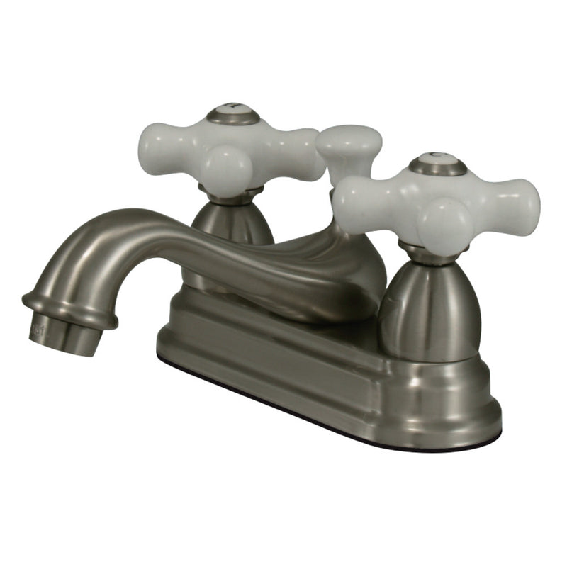 Kingston Brass CC19L8 4 in. Centerset Bathroom Faucet, Brushed Nickel
