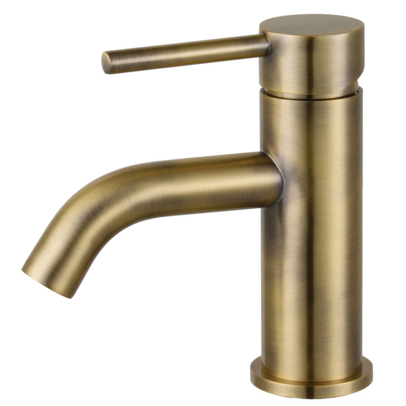Fauceture LS822DLAB Concord Single-Handle Bathroom Faucet with Push Pop-Up, Antique Brass