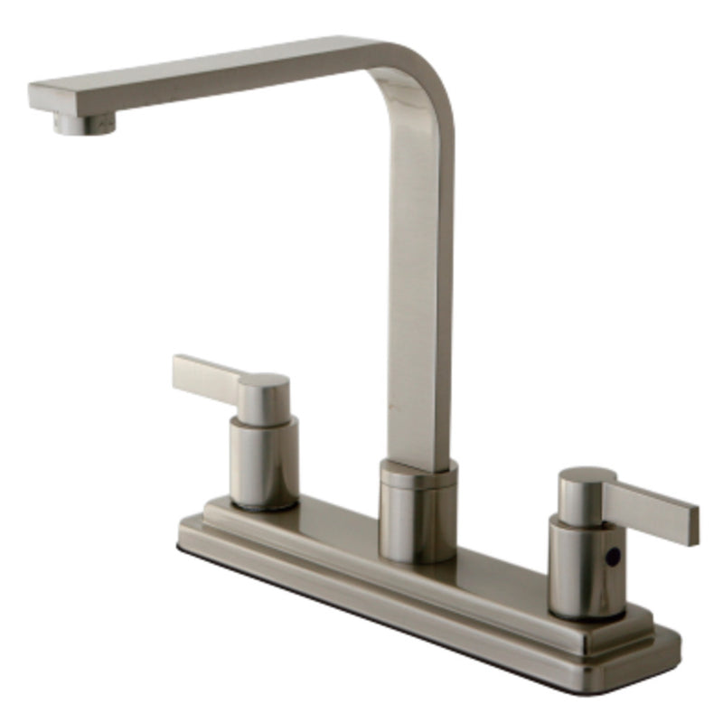Kingston Brass KB8798NDLLS NuvoFusion Centerset Kitchen Faucet, Brushed Nickel
