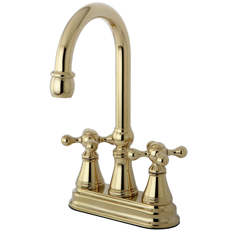 Kingston Brass KS2492KX Bar Faucet, Polished Brass