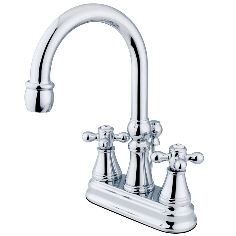Kingston Brass KS2611AX 4 in. Centerset Bathroom Faucet, Polished Chrome