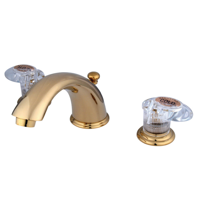 Kingston Brass KB962ALL Widespread Bathroom Faucet, Polished Brass